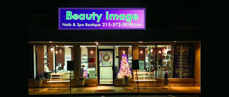 Beauty Image Spa at Night